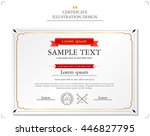 certificate illustration | Shutterstock .eps vector #446827795