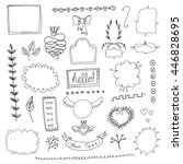 set of hand drawn page elements | Shutterstock .eps vector #446828695