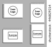 set of empty albums  notebooks  ... | Shutterstock .eps vector #446829214