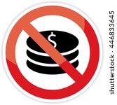 no money no dollars  sign on... | Shutterstock .eps vector #446833645
