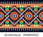 oriental ethnic pattern... | Shutterstock .eps vector #446834461
