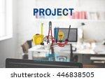 project craft creation ideas... | Shutterstock . vector #446838505