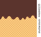 wafer background with flowing... | Shutterstock .eps vector #446840155