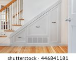 gliding under stair pullout... | Shutterstock . vector #446841181