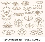 ornamental design elements ... | Shutterstock .eps vector #446846959
