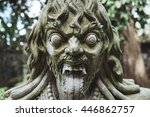 traditional demon guard with... | Shutterstock . vector #446862757
