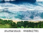 Aerial Empty Tropical Beach An...