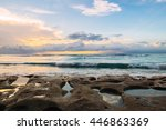 soft sunset at fantastic sea... | Shutterstock . vector #446863369