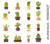 vector illustration with... | Shutterstock .eps vector #446865637