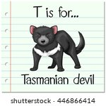 flashcard letter t is for... | Shutterstock .eps vector #446866414
