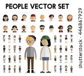 diversity community people flat ... | Shutterstock .eps vector #446867929