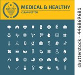 medical icon healthy care icon... | Shutterstock .eps vector #446869681