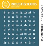 industry icon set vector | Shutterstock .eps vector #446871034