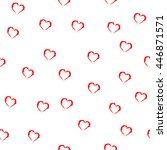 heart red seamless pattern.... | Shutterstock .eps vector #446871571