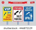 valet parking signs  free valet ... | Shutterstock .eps vector #446872129