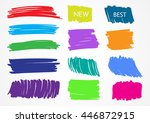 colorful marker stains.grunge... | Shutterstock .eps vector #446872915