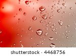 water drops background, focus is set at the bottom - stock photo