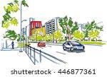 city sketch | Shutterstock .eps vector #446877361