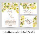 vintage delicate invitation... | Shutterstock . vector #446877535