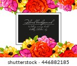 invitation with floral... | Shutterstock . vector #446882185