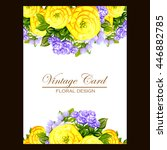 romantic invitation. wedding ...   Shutterstock . vector #446882785
