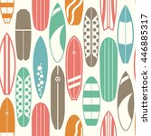 sea surfing pattern with... | Shutterstock .eps vector #446885317