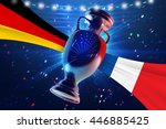 cup on the football field with... | Shutterstock . vector #446885425