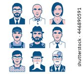 users avatars. occupation and... | Shutterstock . vector #446890591