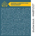 big icon shopping e commerce... | Shutterstock .eps vector #446891527