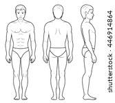 vector illustration of male... | Shutterstock .eps vector #446914864