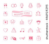 outline wedding icons set | Shutterstock .eps vector #446919295