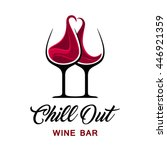chill out wine bar logo... | Shutterstock .eps vector #446921359
