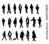hand drawing people sketch... | Shutterstock .eps vector #446923849