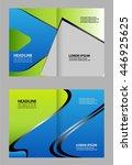 bi fold brochure design  | Shutterstock .eps vector #446925625