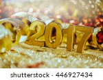 new year decoration closeup on...   Shutterstock . vector #446927434
