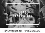 lead generation business... | Shutterstock . vector #446930107