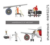 repair and maintenance aircraft.... | Shutterstock .eps vector #446932171