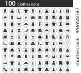 set of one hundred clothes icon | Shutterstock .eps vector #446933767