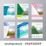 annual report brochure flyer... | Shutterstock .eps vector #446934049
