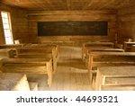 Vintage Classroom Desks Inside...