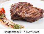 grilled fillet steak on an plate | Shutterstock . vector #446940025