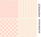 set of simple patterns  | Shutterstock . vector #446940625