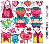 valentine's set of design... | Shutterstock .eps vector #44694208
