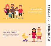 big family and young family.... | Shutterstock .eps vector #446944681