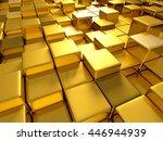 Golden Cubes Abstract...