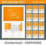 wall calendar planner print... | Shutterstock .eps vector #446946484