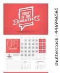 wall calendar planner print... | Shutterstock .eps vector #446946565