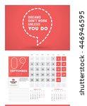 wall calendar planner print...   Shutterstock .eps vector #446946595
