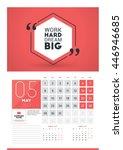 wall calendar planner print...   Shutterstock .eps vector #446946685