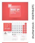 wall calendar planner print... | Shutterstock .eps vector #446946691
